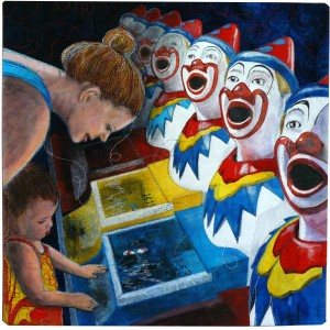 Mother and the clowns 15x15